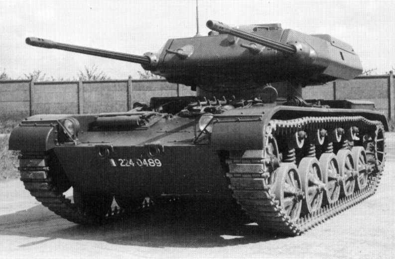 AMX-50-100 - front view   Prototypes & experimental tanks ...