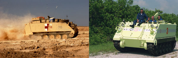 2004년 이라크 전쟁에서 진격하는 M113 보병수송장갑차
